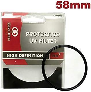 Filtro UV Greika 58 mm para Câmera