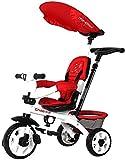 SYue Triciclo de niños Bicicleta Ligera Cochecito de bebé Carro Infantil Carro de bebé Cuatro Estaciones aplican Alta Resistencia