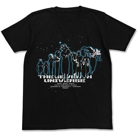 ドラゴンボール超 第7宇宙Tシャツ ブラック Lサイズ