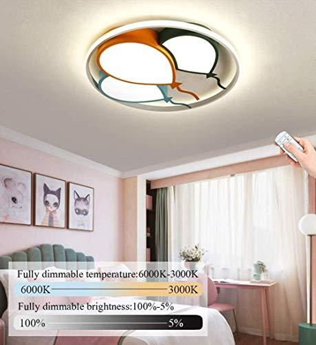 Kinderzimmer Lampe LED Deckenleuchte Cartoon Baby Lampe Moderne Luftballons Design Junge Mädchen Schlafzimmer Deckenlampe Decken Leuchte Dimmbar mit Fernbedienung, 48 Watt, Ø42cm