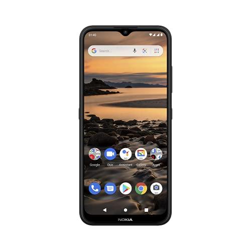 Nokia 1.4 Smartphone mit 6,51-Zoll-HD+ Bildschirm, Camera Go, 4000 mAh Akkukapazität, Qualcomm-Prozessor, Fingerabdruck-Sensor, Android 10, Dual-SIM, RAM 2GB, ROM 32GB - Charcoal