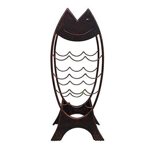 Casier à vin Wine Rack de Fer Que Bouteille Grand Moderne Permanent Rustique Structure Industrielle Doit Table Salle à Manger La Statue (Size : 20x42x95cm)