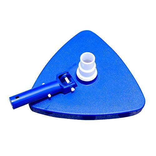 Pool Saugkop pumpenbetriebener Schwimmbadreiniger Saugkopf Transparent Manuelle Saugmaschine Reinigungs Und Wartungswerkzeuge Pool Und Spa Saugkopf (Blau)