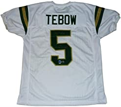 Tim Tebow Autographed Nease High School (White #5) Jersey w/