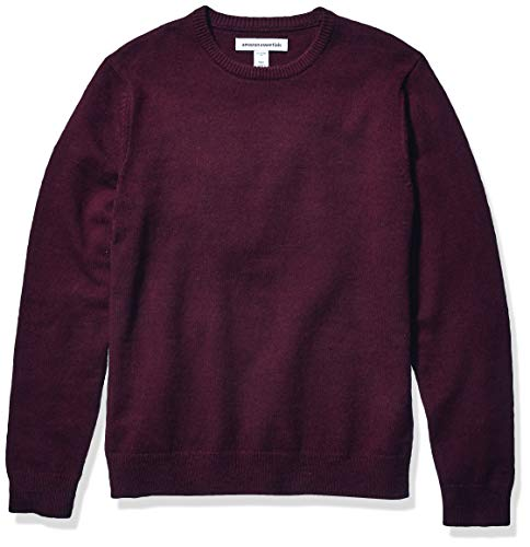 Amazon Essentials Midweight Crewneck Sweater pullover-sweaters, Burgundy, Small