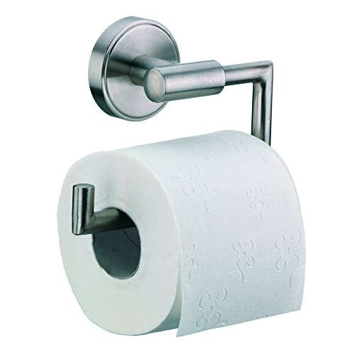 Kela 21582, WC-Papierhalter für Wandbefestigung, 1 Rolle, Edelstahl 18/10, Marbea, 11cm, Silber Matt