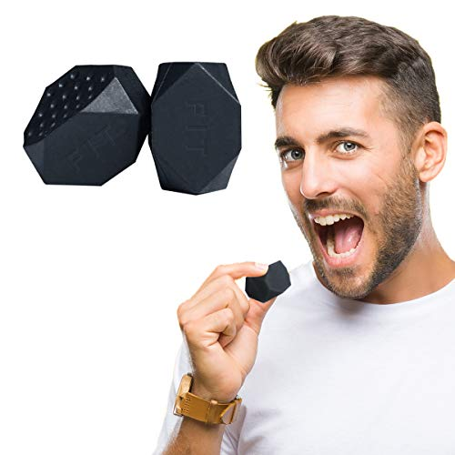 Jaw Exerciser Face Jawline Exercise Ball for Chisel Facial Toner | Double Chin Reducer Eliminator for Mouth Workout Tone Neck & Jawz Slim | Natural Jaws Toning Facelifter Shaper 2pcs (Black_Top)