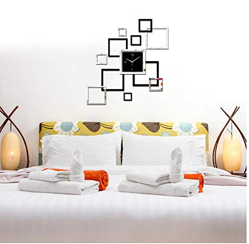 Hanjiming Bijzonder Ontwerp Moderne Stijl Muur Kwarts Klokken Home Decor Wandhorloges Diy Geometrische Spiegel Acryl Materiaal Muursticker