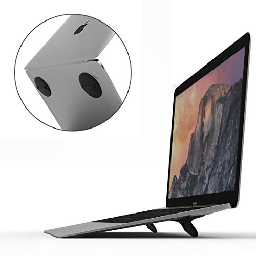 Laptop Stand for Desk, Computer Keyboard Stand Riser, Ergonomic Invisible Laptop Cooling Pad, Repeatable Adhesive Mini Laptop Riser for MacBook Pro Air Mac Book Dell HP More Notebooks - 2 PCS