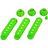 ULTECHNOVO Fundas para Pastillas de Guitarra Perillas Conjunto de Puntas de Interruptor Perilla de Control para Kit de Accesorios de Reemplazo de Instrumentos de Guitarra (Verde)
