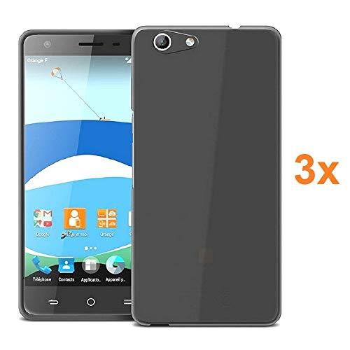 REY 3X Funda Carcasa Gel Transparente para ZTE Blade A506, Ultra Fina 0,33mm, Silicona TPU de Alta Resistencia y Flexibilidad