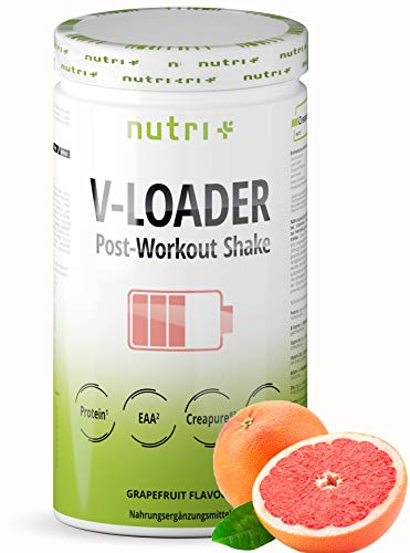 Recovery Drink After Workout Shake - V-Loader Post-Workout Supplement Vegan - 750g Grapefruit Pulver - Maltodextrin - Protein-Pulver - BCAA - Creatin-Monohydrat - L-Glutamin
