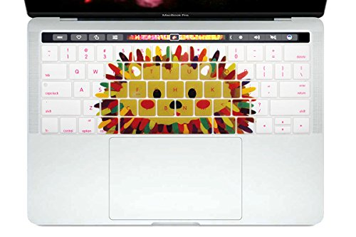 HRH Silicone Keyboard Cover Compatible Newest MacBook Pro with Touch Bar 13 Inch and 15 Inch (A2159/A1989/A1706,A1990/A1707) 2019 2018 2016 2017 Release,Owl