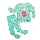 Yearnly Baby Jungen Mädchen Weihnachten Schlafanzug niedlich Dinosaurier Prinzessin Nachtwäsche Baumwolle Kinder Bekleidung Langarm Pyjama zweiteilig Nachtwäsche T-Shirt und Hose 1-7T