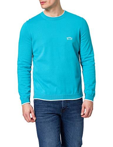 BOSS Herren Riston_W20 Pullover, Open Blue, XXXL