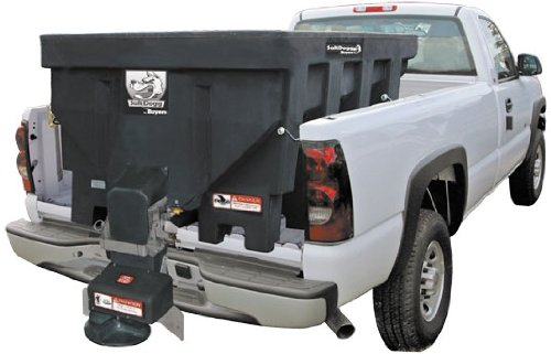 """Buyers Products SHPE1500 92"""" Electric Poly Hopper Spreader with Standard Chute - 1.5 Cubic Yards"""