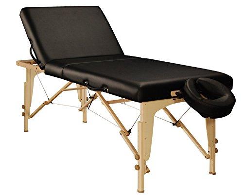 Mt Massage Midas-Tilt 30'' Liftback Tilting Salon Portable Massage Table Package(Black)