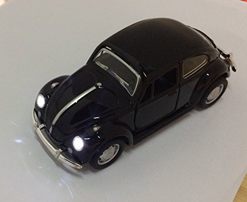 Berry President Classic 1967 Volkswagen Vw Classic Beetle Bug Vintage 1/32 Scale Diecast Metal Pull Back Car Model Toy for Gift/Kids (Yellow)