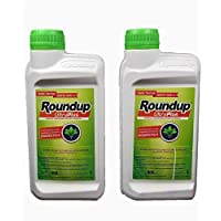 Todo Cultivo herbicida Roundup ultraplus glifosato 36% 1litro. Pack 2 uds de 500 ml. (60 litros de Agua). Herbicida liquido Concentrado sin Efecto Residual.