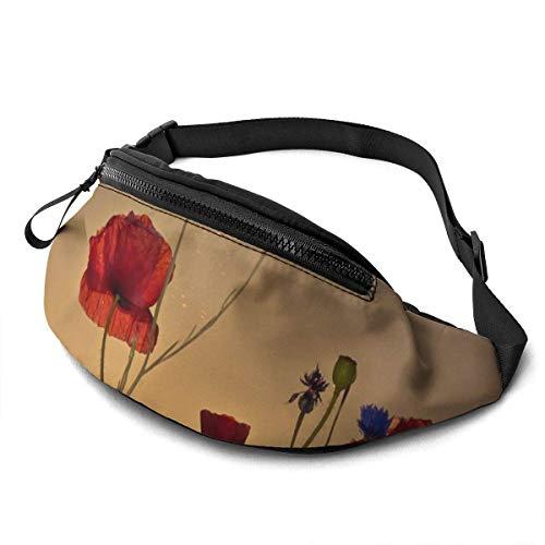 AOOEDM Sunshine Flowers Running Belt Fanny Pack Fashion Waist Pouch Bag for Men Women Sports Hiking