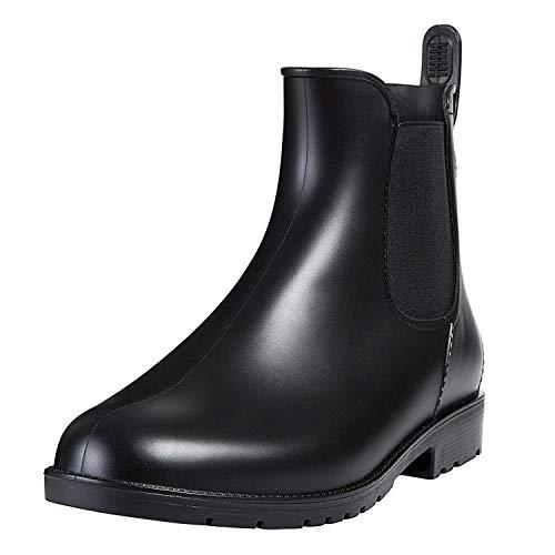 [Shevalues] レインシューズ 晴雨兼用 レディース&メンズ ショートブーツ 無地 大きいサイズ サイドゴア レ...