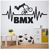 azutura BMX Stunt Vélo Enfants Sticker Muraux Disponible en 5 Dimensions et 25 Couleurs Noir