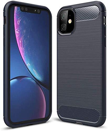 Lapinette Case Compatible with Apple iPhone 11 Carbon Fibre – iPhone 11 Soft Flexible Protection – iPhone 11 Case Premium Blue