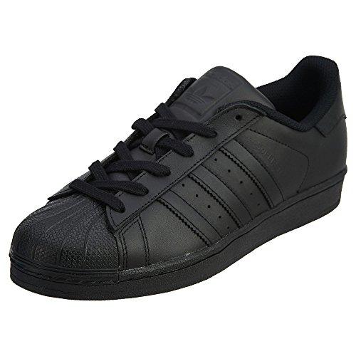 adidas Originals Men's Superstar Foundation Shoes Sneaker, Black/Black/Black, 10.5