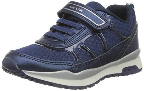 Geox Mädchen J Pavel Girl A Sneaker, Blau (Navy C4002), 30 EU