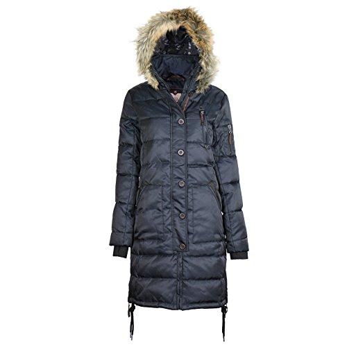 Sublevel Damen Mantel, Abnehmbare Kapuze, Gr. 40 (Herstellergröße: L), Schwarz (Black 24000)