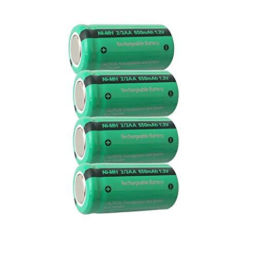 1.2V 2/3AA 650mAh NIMH Rechargeable Battery Flat Top (4Pcs-2/3AA)
