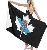 Toalla De Playa Microfibra,Bandera De Galicia De Canadá Toalla De Baño Grande Toalla De Playa Ligera Viajes Familiares En Hoteles Natación Deportes De Fitness