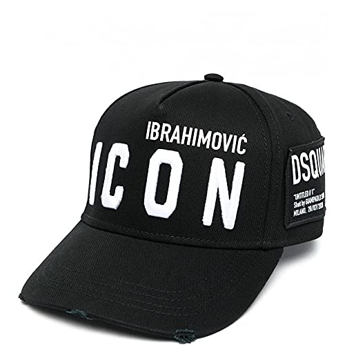 DSquared Icon Cap Weiß + Ibrahimovic, Schwarz One size