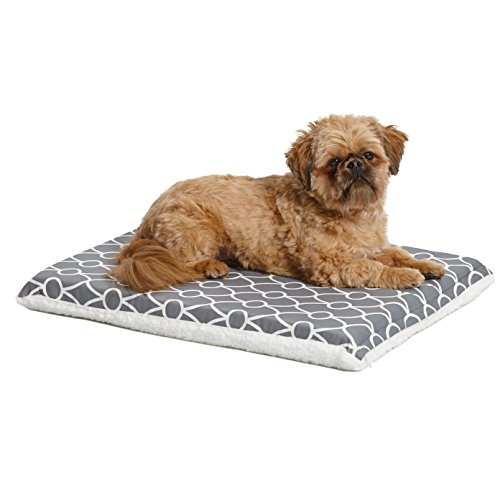 Quiet Time Teflon Defender Dog Beds; Pet Beds Designed to Fit Folding Metal Dog Crates, Gray & White Geometric Pattern, 24-Inch