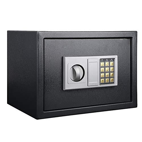 ZLSANVD Acero Segura Caja de Seguridad Electrónica Digital Ocultos de construcción con el Bloqueo Cajas Fuertes de Visita del Arma Pasaporte joyería y Dinero en Efectivo (Color : Black)