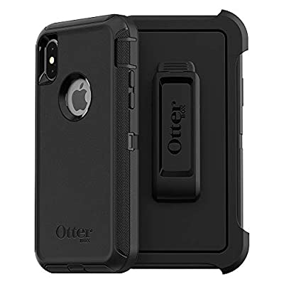 OtterBox DEFENDER SERIES SCREENLESS EDITION Case for iPhone Xs & iPhone X - Retail Packaging - BLACK