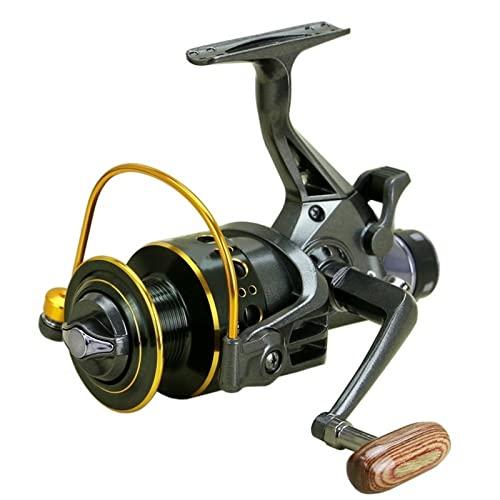QWSA Carrete de Pesca de Spinning de Metal Sadewater Carrete de Pesca Freno Delantero y Trasero Relación de Velocidad de Freno 5.0: 1 5.2: 1 (Bearing Quantity : 12, Spool Capacity : 4000 Series)