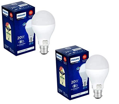 PHILIPS 20Watts B22 LED Crystal White Bulb, Pack of 2