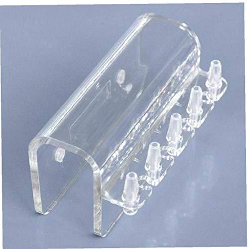 Amoyer 5 U-Transparent Rohr Hanger Zubehör Verteiler Klemmhalterung weiche Schlauch-Halterung Halter Dosierpumpe Aquarium Rack PC Fisch-Berg