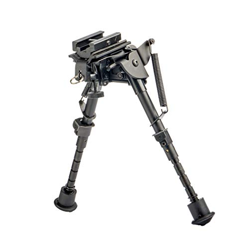 FOCUHUNTER Táctico Bípode 6-9 Pulgadas - Perno Giratorio Bípode Rifle Ajustable Giratorio para Rifle de Aire y Rifle de Francotirador con Sling Mount