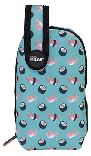 MILAN Kit 1 Estuche con Contenido Sushi Estuches, 19 cm, Turquesa