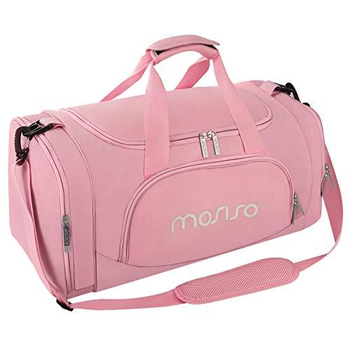 MOSISO Sport Gym Tasche Reisetasche mit vielen Fächern, Schultergurt, Tragegurt für Fitness, Sport und Reisen Sporttaschen mit Designs, Rose