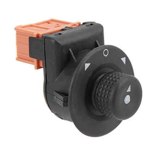 Interruptor de botón de espejo-Espejo retrovisor del coche Perilla de control de interruptor lateral plegable eléctrica Compatible con Citroen XSARA