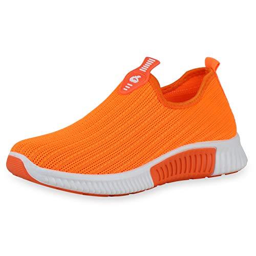 SCARPE VITA Slip Ons Strick - Zapatillas deportivas para mujer, color Naranja, talla 36 EU