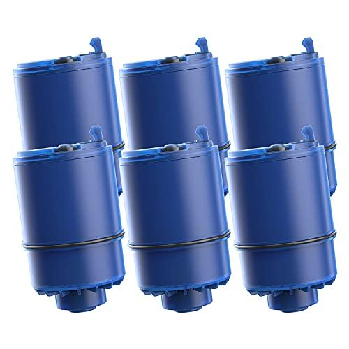 AQUACREST RF-9999 NSF Certified Water Filter, Replacement for Pur RF9999 Faucet Water Filter, Pur Faucet Model FM-2500V, FM-3700, PFM150W, PFM350V, PFM400H, PFM450S, Pur-0A1 (Pack of 6)