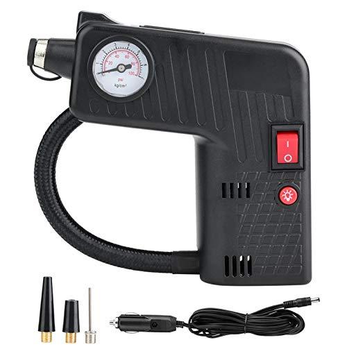 Bomba inflable-Bomba inflable para neumáticos de coche eléctrico Bomba de compresor de aire portátil para motocicleta y bicicleta 12V