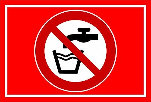Melis Folienwerkstatt sticker schild - geen drinkwater - S00355-014-D