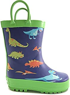 Andy + Lucas Rain Boots with Easy-On Handles in Cute Patterns for Toddlers and Kids