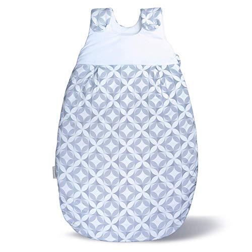 Baby Schlafsack & Strampler vom Kliniklieferant Nr. 1 | Für Alter 0 bis 12 Monate | Öko-Tex 100 zertifiziert | Sicher & Nachhaltig | Anti-Allergisch & Komfortabel Mosaik Größe: 74/80