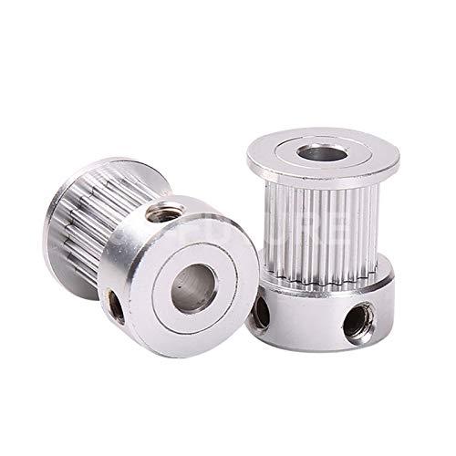 ZYuhong-polea 1 unids, piezas de impresora 3D GT2 Polea de tiempo, 16 dientes 2GT 20 dientes de aluminio, orificio 5 mm 8 mm Ruedas sincrónicas Pieza de engranaje for ancho 6mm 10mm Transmisión suave